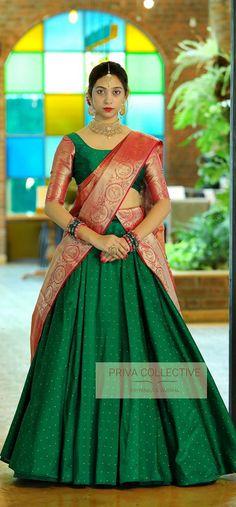 Indian Gowns Dresses, Indian Fashion Dresses, Dress Indian Style, Lehenga Saree Design, Lehenga Designs, Ghagra Saree, Choli Designs, Silk Lehenga, Silk Sarees