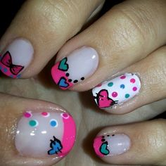 Green Nail Designs, Cute Nail Designs, Crazy Nails, Love Nails, Nail Art For Girls, French Tip Nails, Cute Nail Art, Green Nails, Creative Nails
