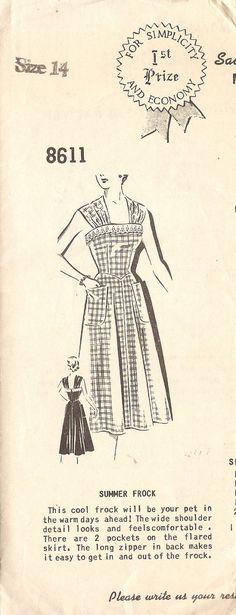 Mail Order Sue Burnett 8611 Vintage 1950s 1st by DRCRosePatterns