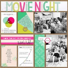 digital scrapbook layout created with Labely Bit v.1 and There's a Chart for That pocket cards by Amber LaBau designs