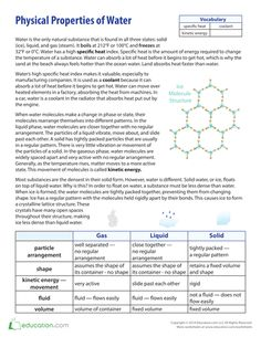 Density of Salt Water | Fresh water, The o'jays and Worksheets