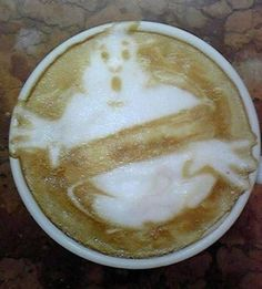 Ghostbusters latte art - so wishing I could do this!