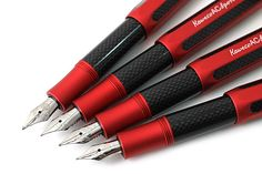Kaweco AC Sport Carbon Fountain Pen - Red Body The sporty and compact look of these fountain pens transcend time and are just as attractive today as they were when they were first created years ago.