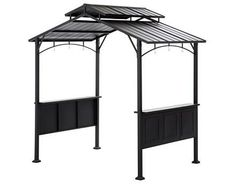 Deluxe Grill Gazebo is perfect for adding coverage in your yard while grilling or eating Features a slate countertop for serving and dining Outdoor Gazebos, Outdoor Spaces, Outdoor Gardens, Outdoor Living, Outdoor Structures, Bbq Grill, Grilling, Bbq Shed, Slate Countertop