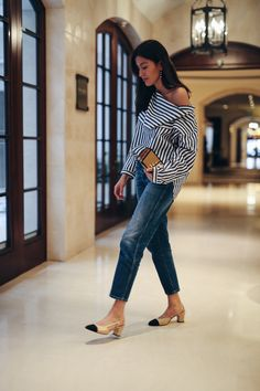 stripes block heels Women's Jeans - amzn.to/2i8XN7s Clothing, Shoes & Jewelry - Women - women's jeans - http://amzn.to/2jzIjoE