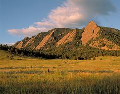 Iconic view of the Flatirons in the Front Range of the Rockies...Boulder, CO...I miss this place.