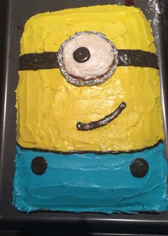 Homemade Minion Birthday cake.