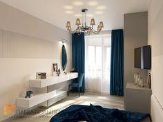 Фото: Интерьер спальни - Интерьер трехкомнатной квартиры в современном стиле, ЖК «наб. реки Карповки,10», 110 кв.м.