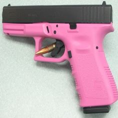 pink glock 19 - the most popular choice for women's self defense firearm Self Defense Women, Self Defense Tips, Handgun For Women, Glock Girl, Guns And Ammo, Concealed Carry, Happy Colors, Camping Hacks, Bushcraft