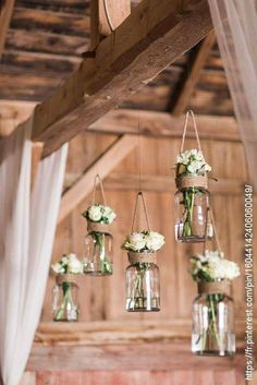 This rustic barn wedding nails county decor! We're loving how the decor included. This rustic barn wedding nails county decor! We're loving how the decor included Mason jar flower holders and repurposed suitcases.