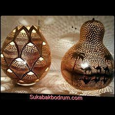 Gourd lamp. Sukabakbodrum.com