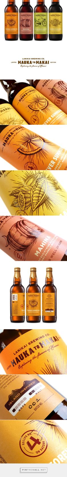 Lanikai Brewing Co: Mauka to Makai - Packaging of the World - Creative Package Design Gallery - http://www.packagingoftheworld.com/2017/01/kincsem-kastely-winery.html