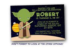 Star Wars birthday invitation, Yoda, Luke Skywalker, Darth Vader, Han Solo, digital file, printable