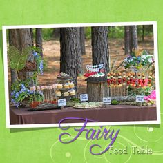 Love the fruit fairy wands and the pixie dust making station. Very cute!