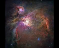 Inside a cavern of roiling dust and gas, thousands of stars are forming. More than 3,000 stars of various sizes appear in this image of the Orion Nebula