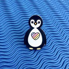 #penguin #enamelpin #rainbow