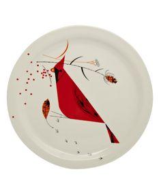 Red Cardinal Bird Dinner Plate
