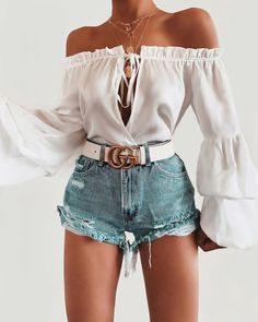 outfits verano Source by Outfits veranoYou can find Verano and more on our website.outfits verano Source b. Cute Summer Outfits, Cute Casual Outfits, Short Outfits, Stylish Outfits, Cute Shorts Outfits, Denim Shorts Outfit Summer, Women's Shorts, Denim Outfit, Girly Outfits