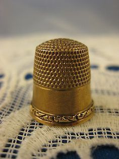 10K Gold Stern Co Thimble 2 Size 8 | eBay