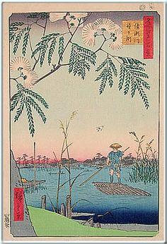 広重 (1797-1858)  2. 名所江戸百景 綾瀬川鐘ヶ淵  3. 安政4年 (1857)