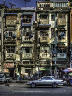 Shwebonthar Street . Yangon, Myanmar