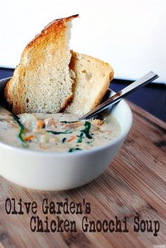 Slow Cooker Copycat Olive Garden Chicken Gnocchi Soup - This Olive Garden Copycat recipe for soup made in your slow cooker is a treat your whole family will love. #SlowCookerRecipes