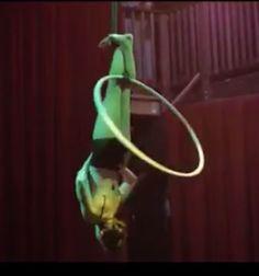 Interesting ankle hand -  aerial hoop