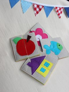 My first puzzle / Early years toy.    #Puzzle for #Toddlers, made is Felt. #Montessori #waldorf