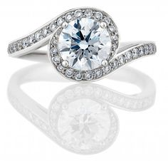 Bague de fiançailles diamant solitaire central - Bague: De Beers, modèle Caress - La Fiancée du Panda blog Mariage et Lifestyle