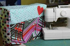 Sewing machine covers protect your machine from dirt and dust. Check out this easy to make cover and personalize your space. https://sewing.com/diy-sewing-machine-cover/