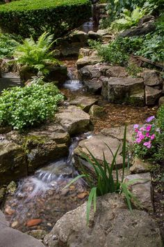 Why You Should Invest In Simple Water Features For Your Home Garden – Pool Landscape Ideas Backyard Stream, Backyard Water Feature, Ponds Backyard, Garden Pond Design, Landscape Design, Pond Landscaping, Waterfall Landscaping, Garden Waterfall, Water Features In The Garden