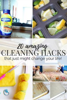 A roundup of great cleaning hacks for your home to make cleaning super quick and easy. These tips and tricks are so helpful and simple.