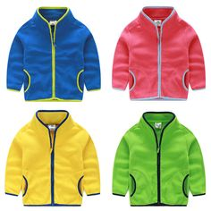 Kids Fleece Jackets for Fall and Spring 4 Colors Available #babyshowergift #canvasshoes #balletclothes #christmasdress #christmas #footwear #babyfashion #girlsdresses #boysfashion #kidsfashion