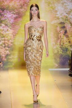 Golden look from Zuhair Murad Spring 2014 Couture