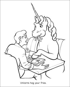 """Unicorns Are Jerks"" Coloring Book"