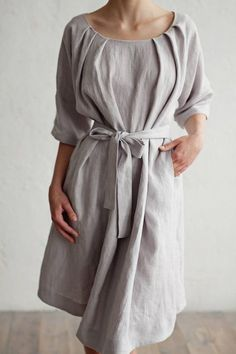 The timeless elegance of linen ensures our MagicLinen clothing for women will be a staple in your wardrobe. Sewn by hand from the highest quality linen, this collection on linen dresses exude femininity, comfort and style in abundance. Linen Dresses, Dresses With Sleeves, Muslin Dress, Boho Outfits, Linen Fabric, Beautiful Outfits, Your Style, Summer Dresses, Summer Outfit