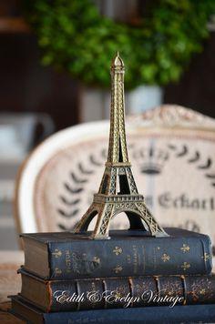 Vintage Eiffel Tower Statue Souvenir Paris by edithandevelyn, $35.00