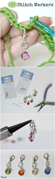 A stitch marker is a great way to mark your spot in a knitting or crochet…