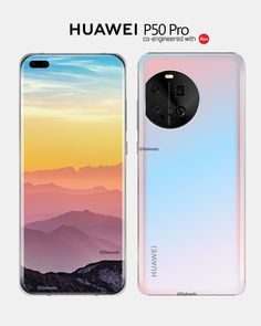 Huawei P50 Pro Rendering Image Leaks; Liquid Lens, Four Curved Eye-catching Screens