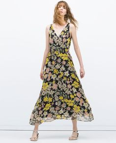 ZARA - I'm 5'4 and this is the perfect Maxi length!  It's so flattering and lightweight. Love it!!