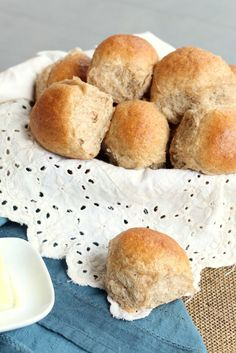 These easy whole wheat dinner rolls are simple to prepare while still being soft and delicious. A perfect side to soup.