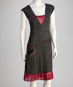 Take a look at this Black & Fuchsia Dress by Coline USA on #zulily today! $39.99, regular 83.00