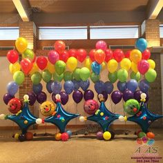 We use Balloons to decorate some of the best parties while maximizing any budget. Arches, Centerpieces, Columns, Backdrops, Sculptures + More. Ballon Decorations, Balloon Centerpieces, Stage Decorations, Clown Balloons, Rainbow Balloons, Circus Carnival Party, Balloon Display, Balloon Crafts, Balloons And More