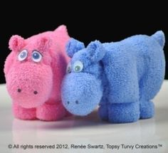 Washcloth Hippo | YouCanMakeThis.com