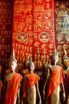 Interior of Funerary Carriage House, Wat Xieng Thong, Luang Prabang, Laos