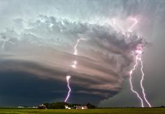 3 image stack of the beastly supercell near West Point, NE on June 14, 2013.