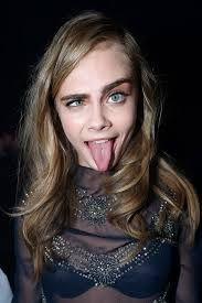 lol....Cara Delevingne model sense of humor lol funny sheer black blouse rhinestones bling