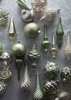 Our Silver & Sage 60-Piece Ornament Collection accents a wide range of design styles and palettes.