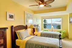 Guest bedroom in luxury condo, 'Private Key West Sunset' at Truman Annex | Key West Rentals - VHKW.com