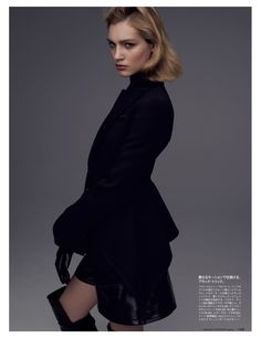 The Woman In Black | Lilya Kotsur | Wataru #photography | Figaro Japan September 2012